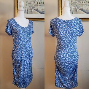 Old Navy Maternity Blue Floral Bodycon Dress